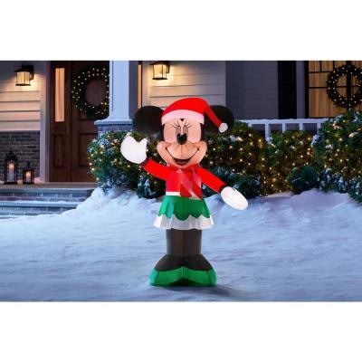3.5 ft. Inflatable Minnie Mouse in Holiday Outfit