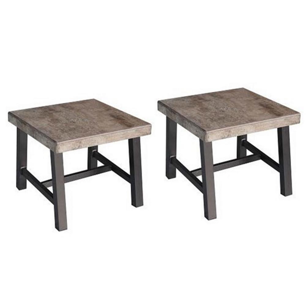 Superbe Honeycomb Delta Square Aluminum Outdoor Side Table (2 Set)