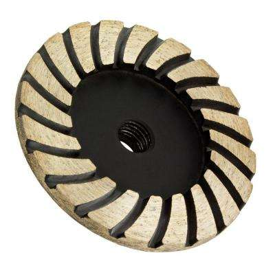 4 in. x 5/8 in.-11 Thread Medium Grit Turbo Diamond Grinding Wheel for Stone Grinding