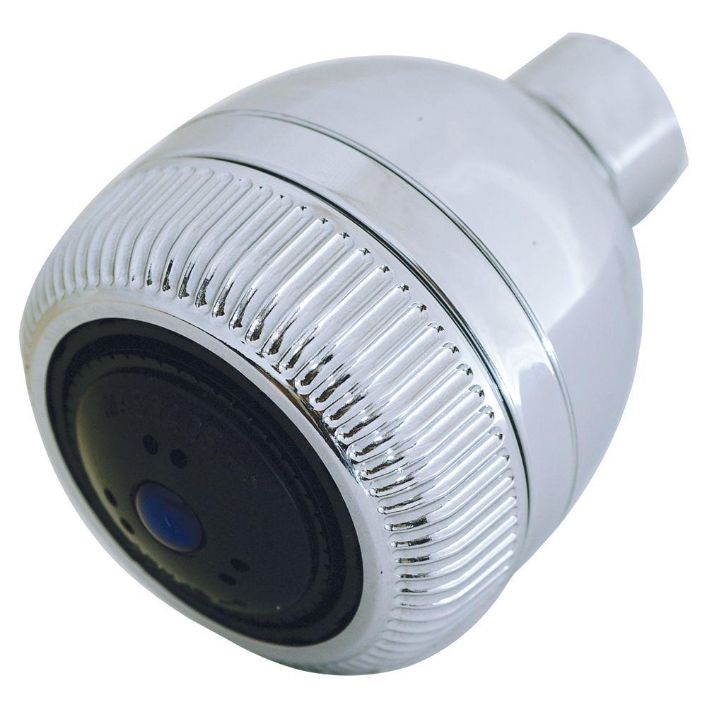 EZ-FLO 2-Spray 2 in. Showerhead in Chrome (Grey)