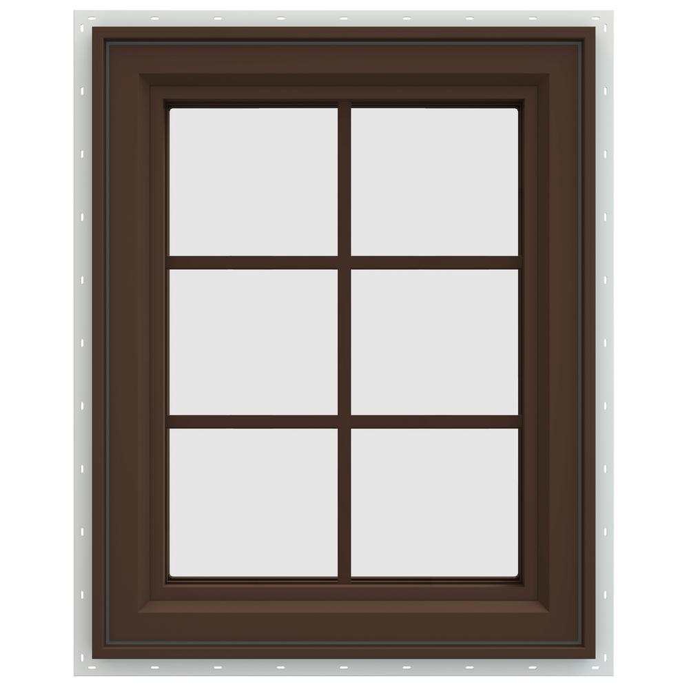23.5 in. x 29.5 in. V-4500 Series Right-Hand Casement Vinyl Window
