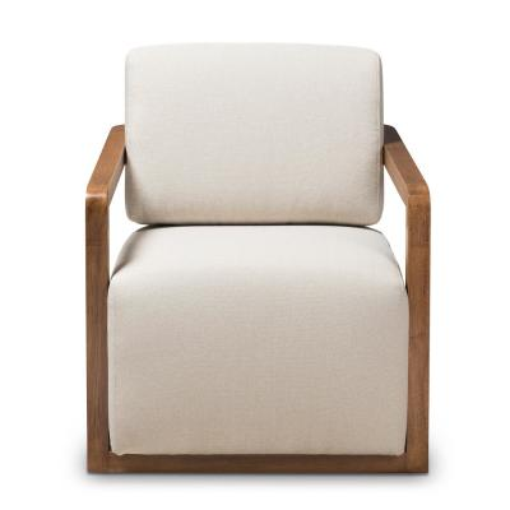 Sawyer Beige Fabric Arm Chair