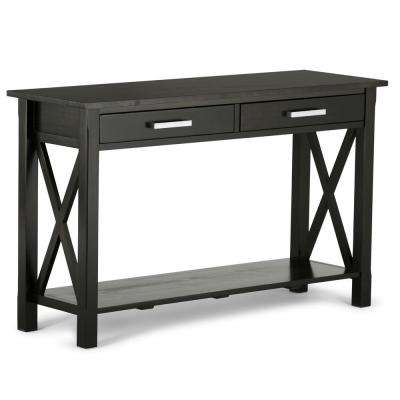 Kitchener Dark Walnut Storage Console Table