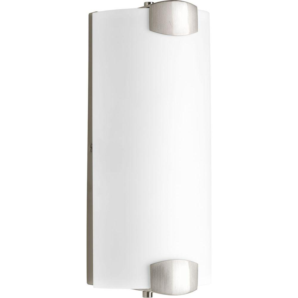 Balance Collection 2-Light Brushed Nickel LED Bath Light