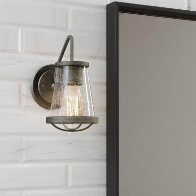 Georgina 1-Light Weathered Iron Wall Sconce