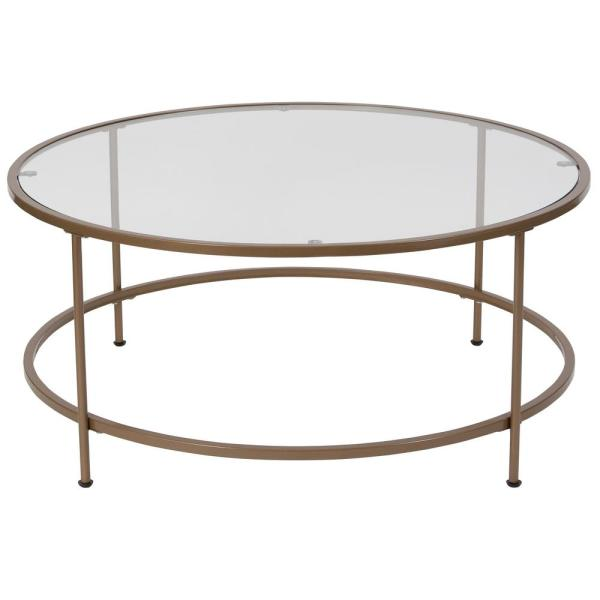 Clear/Matte Gold Coffee Table