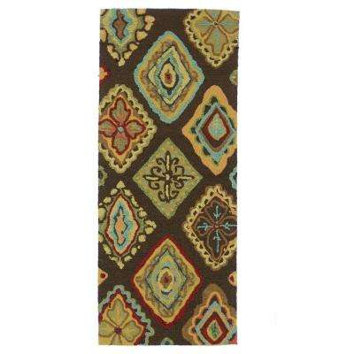Olivia Lifestyle Collection Brown/Multi 2 ft. x 5 ft. Rug Runner
