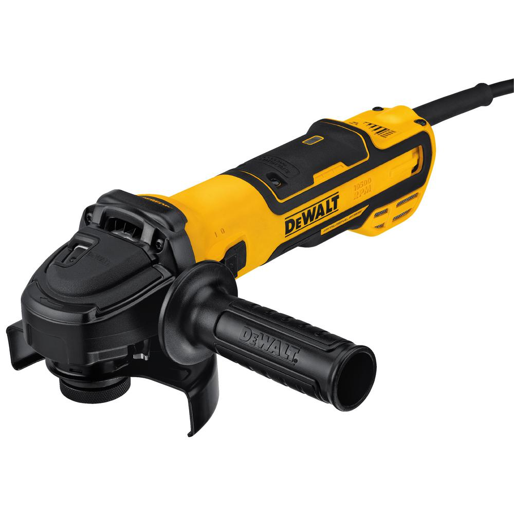 DEWALT 13 Amp Corded 5 in. Brushless Angle Grinder with Slide Switch