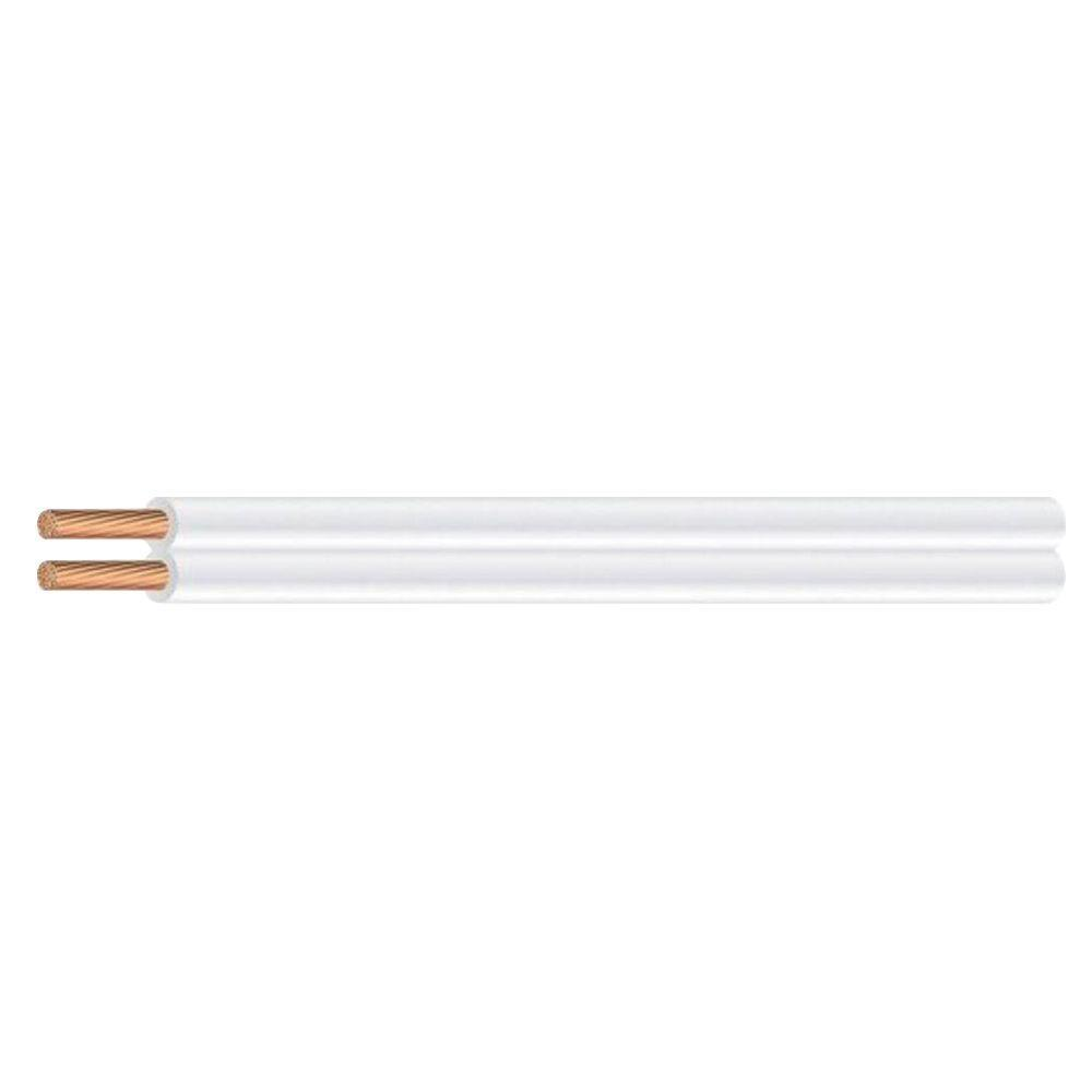 100 ft. 18/2 White Stranded CU SPT-1 Lamp Wire