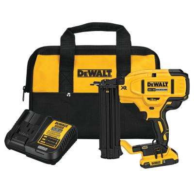 20-Volt Max Lithium-Ion 18-Gauge Cordless Brad Nailer Kit