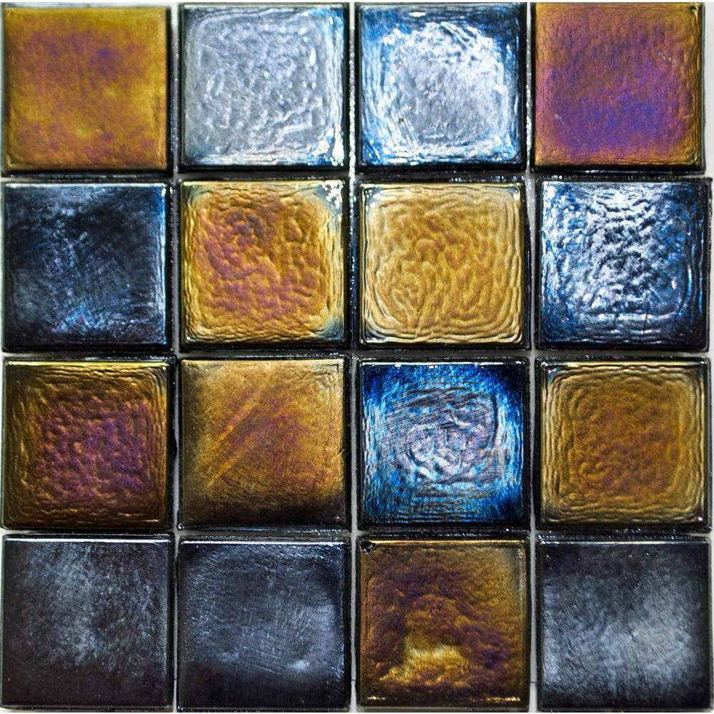 Studio E Edgewater Outer Banks Glass Mosaic & Wall Tile - 5 in. x 5 in. Tile Sample-DISCONTINUED
