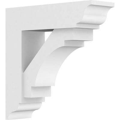 3 in. x 12 in. x 12 in. Merced Bracket with Traditional Ends, Standard Architectural Grade PVC Brackets