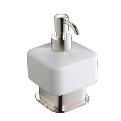 Solido Lotion Dispenser in Brushed Nickel