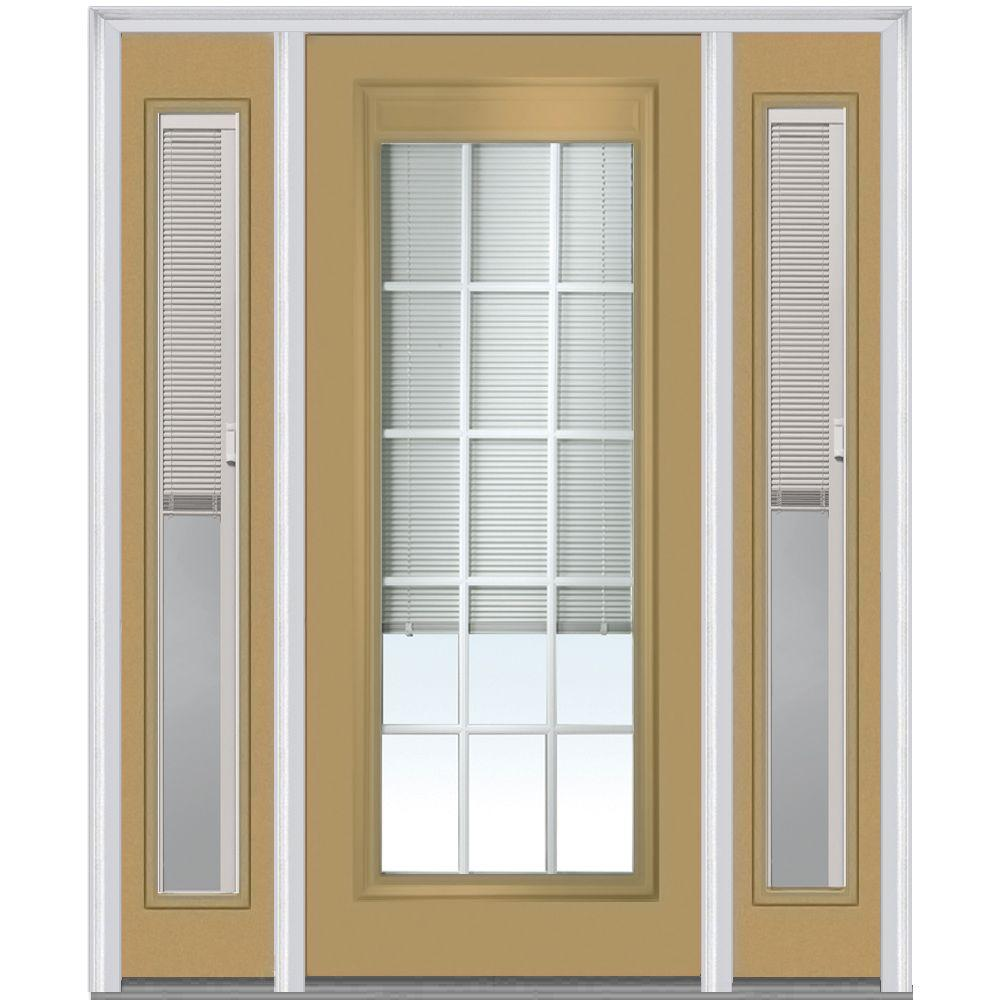 MMI Door 60 in. x 80 in. Internal Blinds and Grilles Right-Hand Full ...
