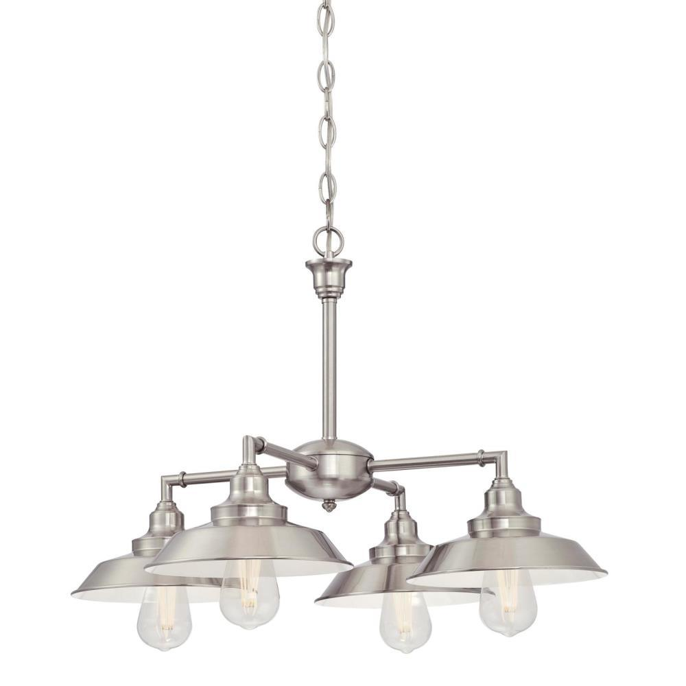 Westinghouse Iron Hill Pendant: Westinghouse Iron Hill 4-Light Brushed Nickel Chandelier
