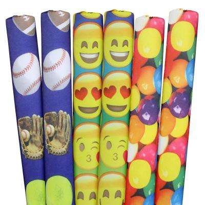 Sports, Emojis, Gumballs Pool Noodles (6-Pack)