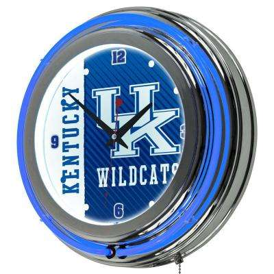 University of Kentucky 14 in. x 14 in. Text Round Neon Wall Clock