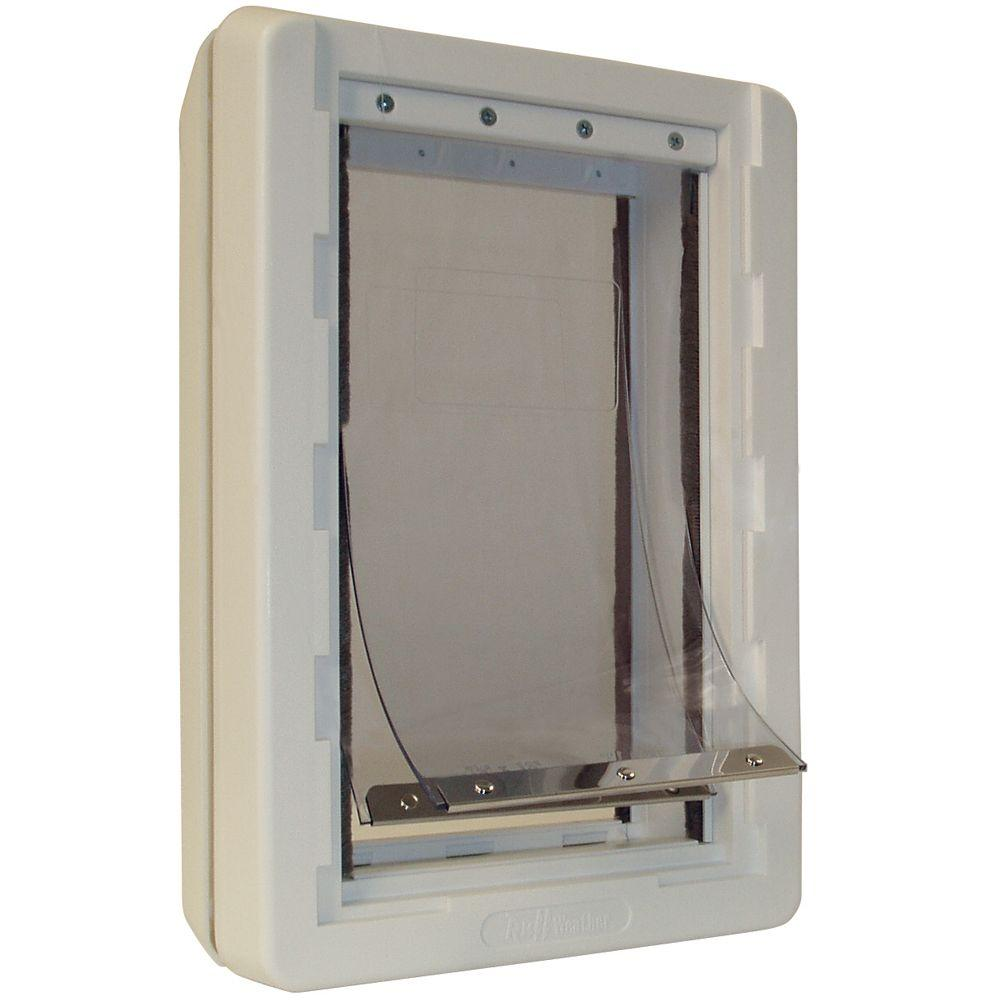 Ideal Pet 5 In. X 9.25 In. Small Ruff Weather Frame Door With Dual  Flaps RWS   The Home Depot
