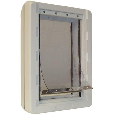 9.75 in. x 17 in. Ruff Weather Frame with Dual Flaps Dog and Pet Door