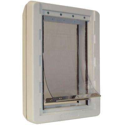 9.75 in. x 17 in. Extra Large Ruff Weather Frame Door with Dual Flaps