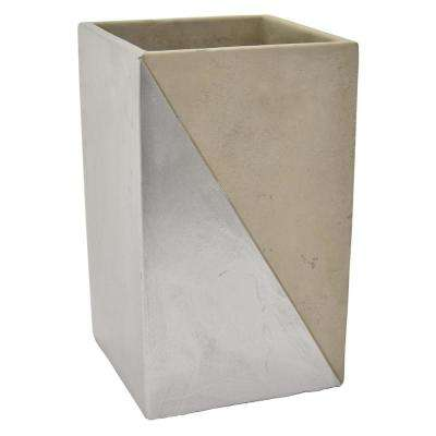 9 in. Gray and Silver Flower Pot