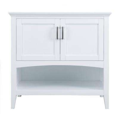 Brattleby 36 in. Vanity Cabinet Only in White