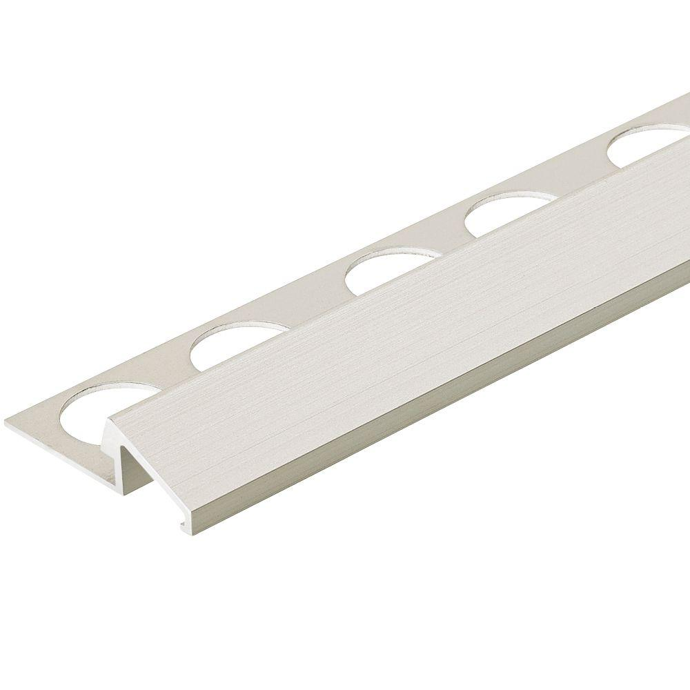 Satin Silver 3/8 in. x 98-1/2 in. Aluminum U-Reducer Tile Edging