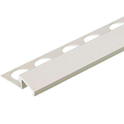 Satin Silver 3/8 in. x 98-1/2 in. Aluminum U-Reducer Tile Edging Trim