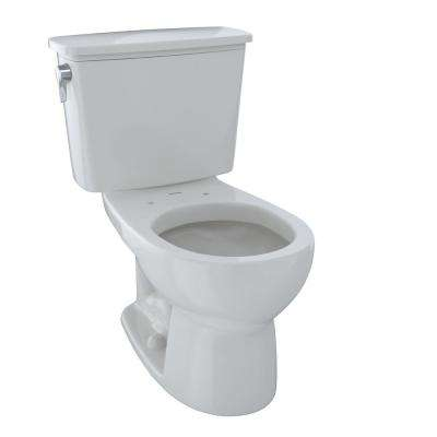 Eco Drake Transitional 2-Piece 1.28 GPF Single Flush Round Toilet in Colonial White