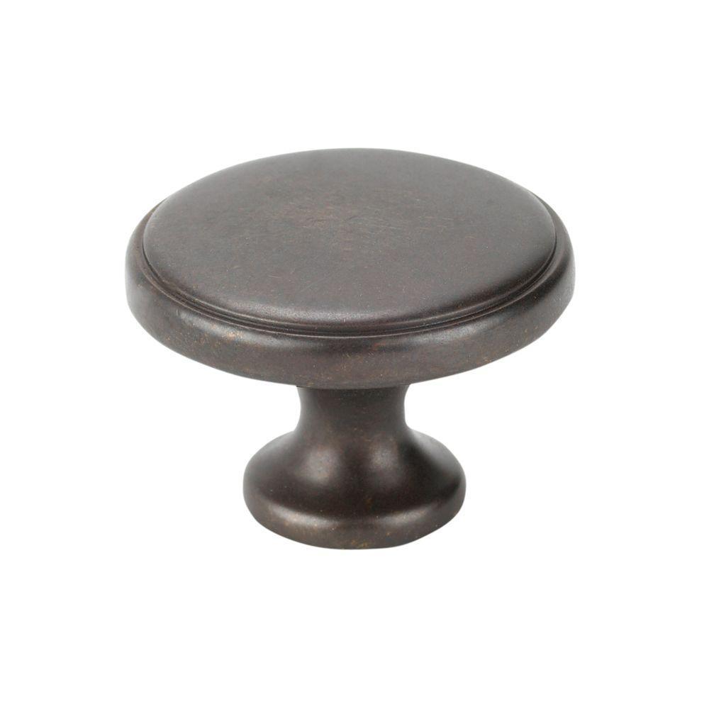 Italian Designs Collection 1.37 in. Dark Bronze Cabinet Knob