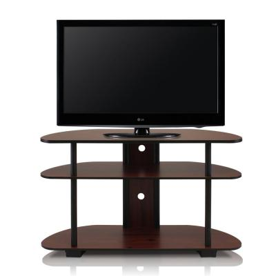 Furinno Turn N Tube Dark Cherry 3 Shelf TV Stand With Cable Management