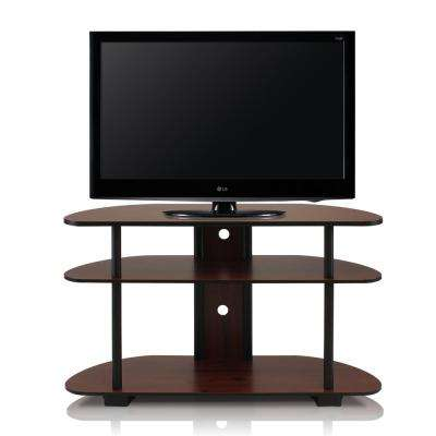 Turn-N-Tube Dark Cherry 3-Shelf TV Stand with Cable Management