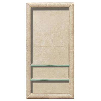 Full Tile 12 in. x 4 in. x 24 in. Shower Niche in Desert Sand