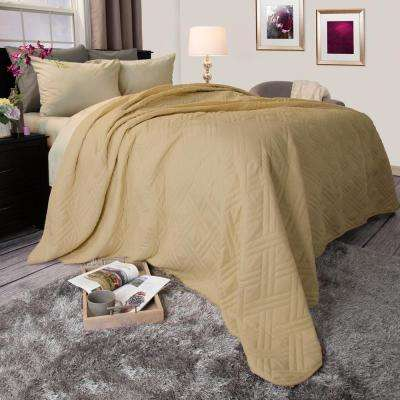 Solid Taupe Full/Queen Bed Quilt