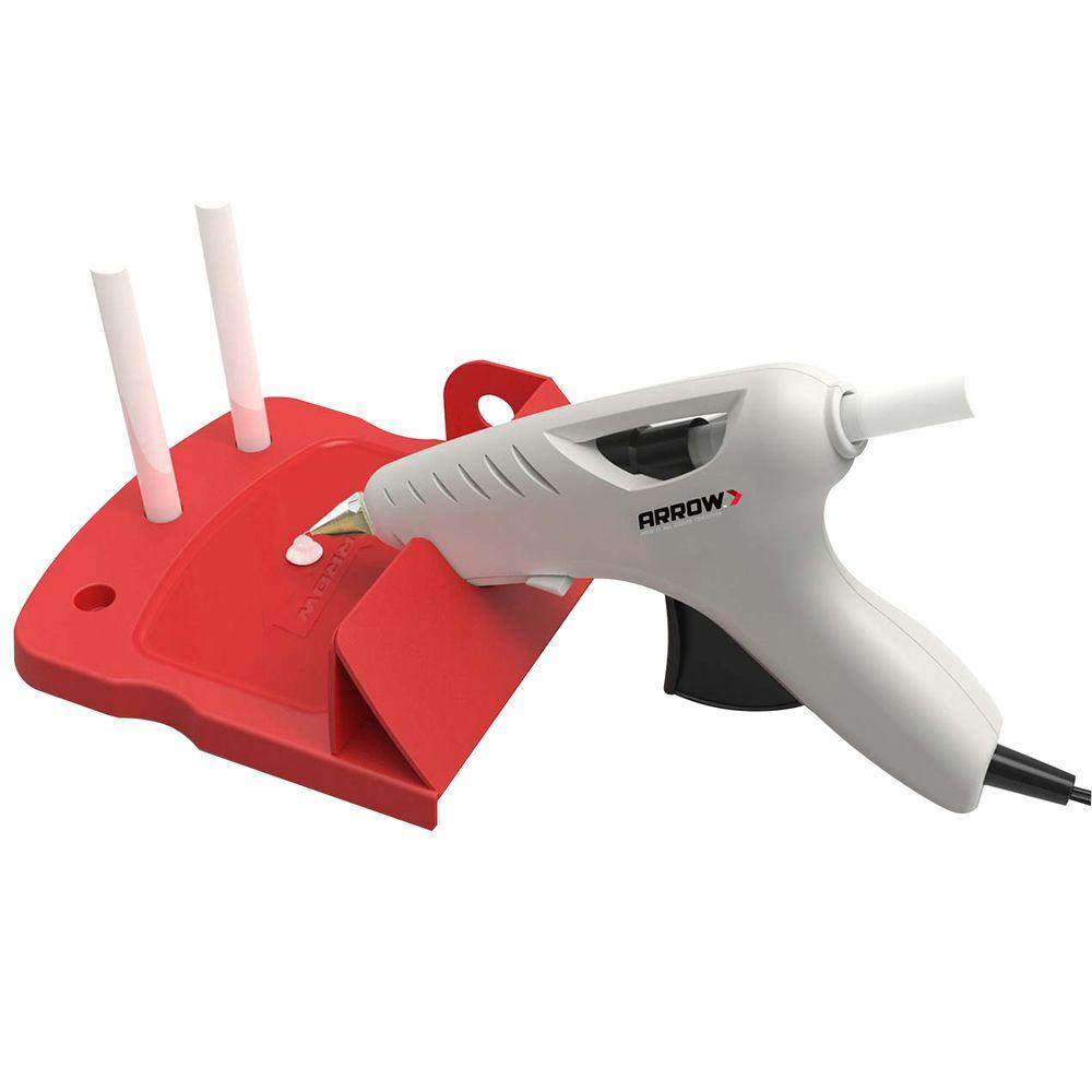 Arrow Fastener Hot Melt Full Size Glue Gun Kit with Stand and 6 Glue Sticks