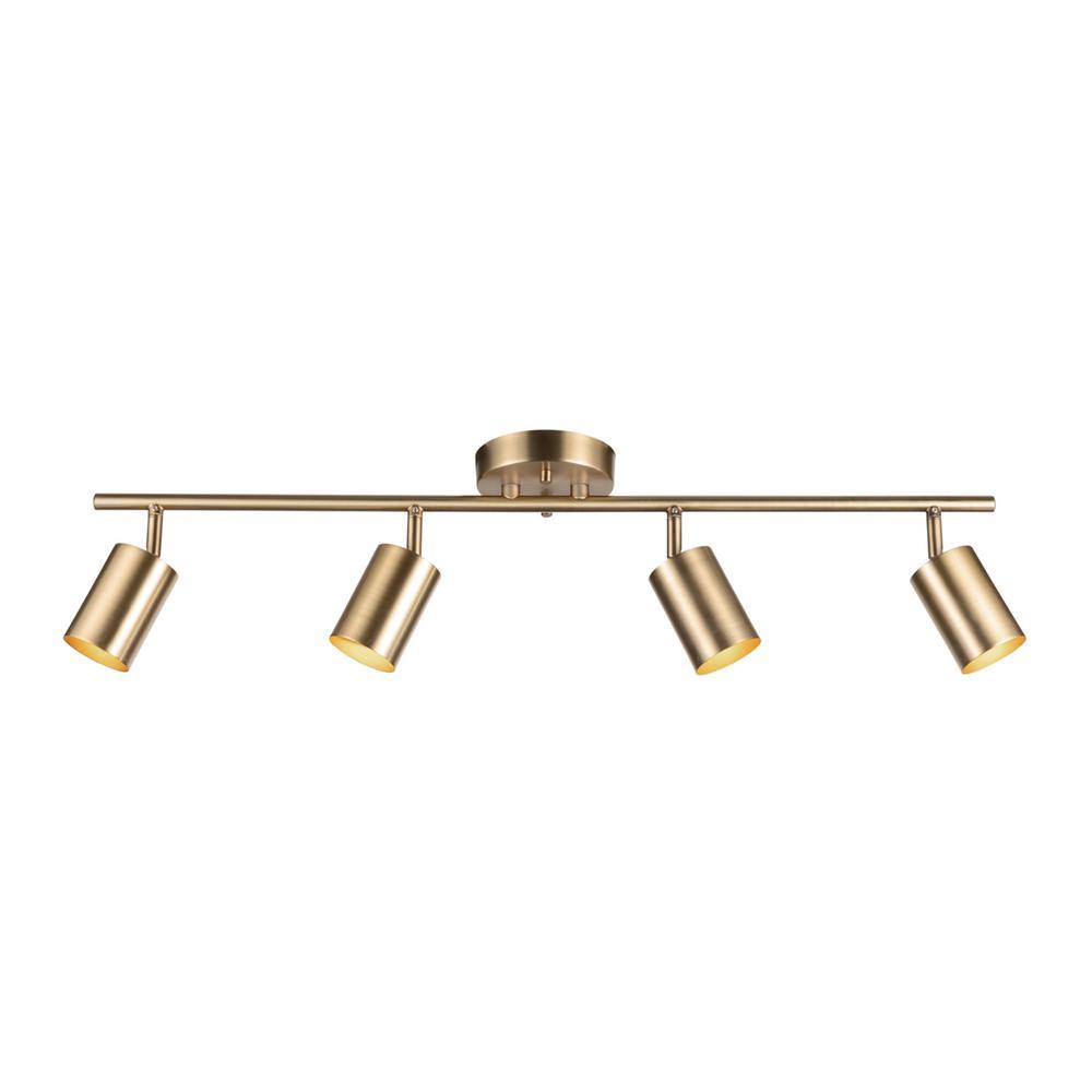 Pratt 30 in. 4-Light Matte Brass Track Lighting