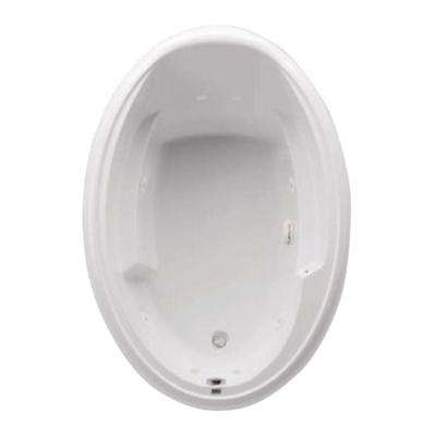 Ariel I 60 in. Acrylic Reversible Drain Oval Drop-In Whirlpool Bathtub in White