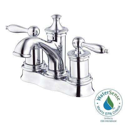 Prince 4 in. Centerset 2-Handle Bathroom Faucet in Chrome