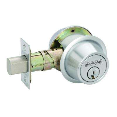 Double Cylinder Satin Chrome Medium Duty Commercial Deadbolt