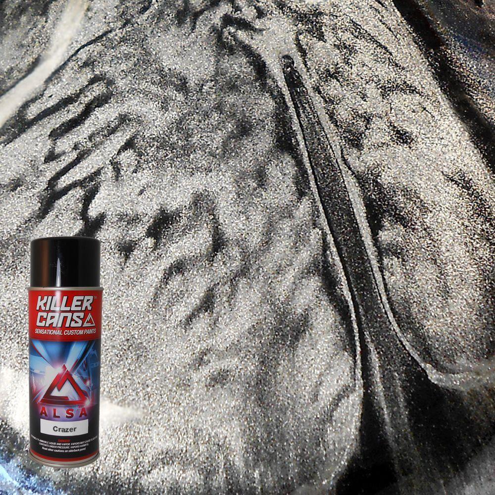 12 oz. Crazer Metallic Silver Killer Cans Spray Paint