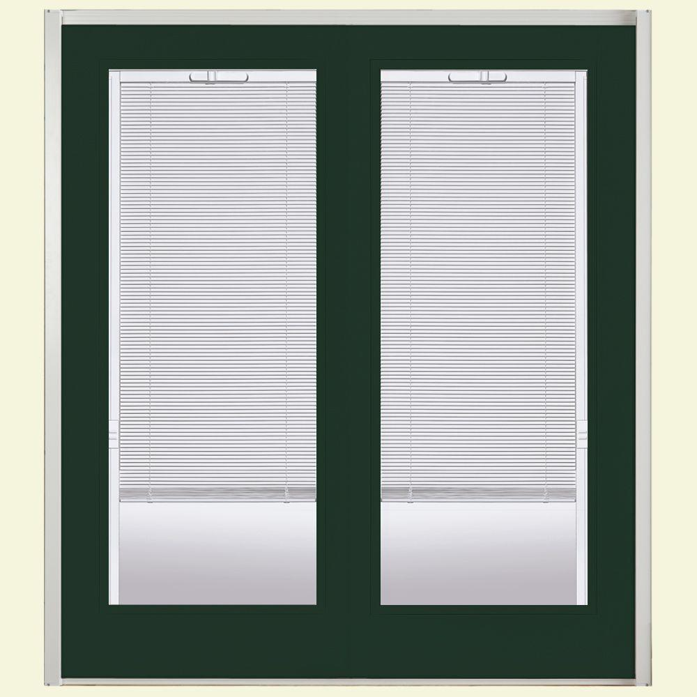 72 in. x 80 in. Conifer Prehung Right-Hand Inswing Mini Blind
