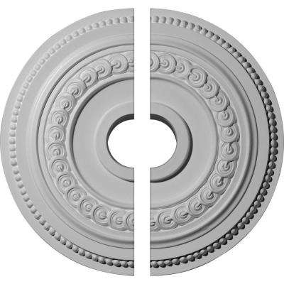 18 in. O.D. x 3-3/8 in. I.D. x 7/8 in. P Oldham Ceiling Medallion (2-Piece)