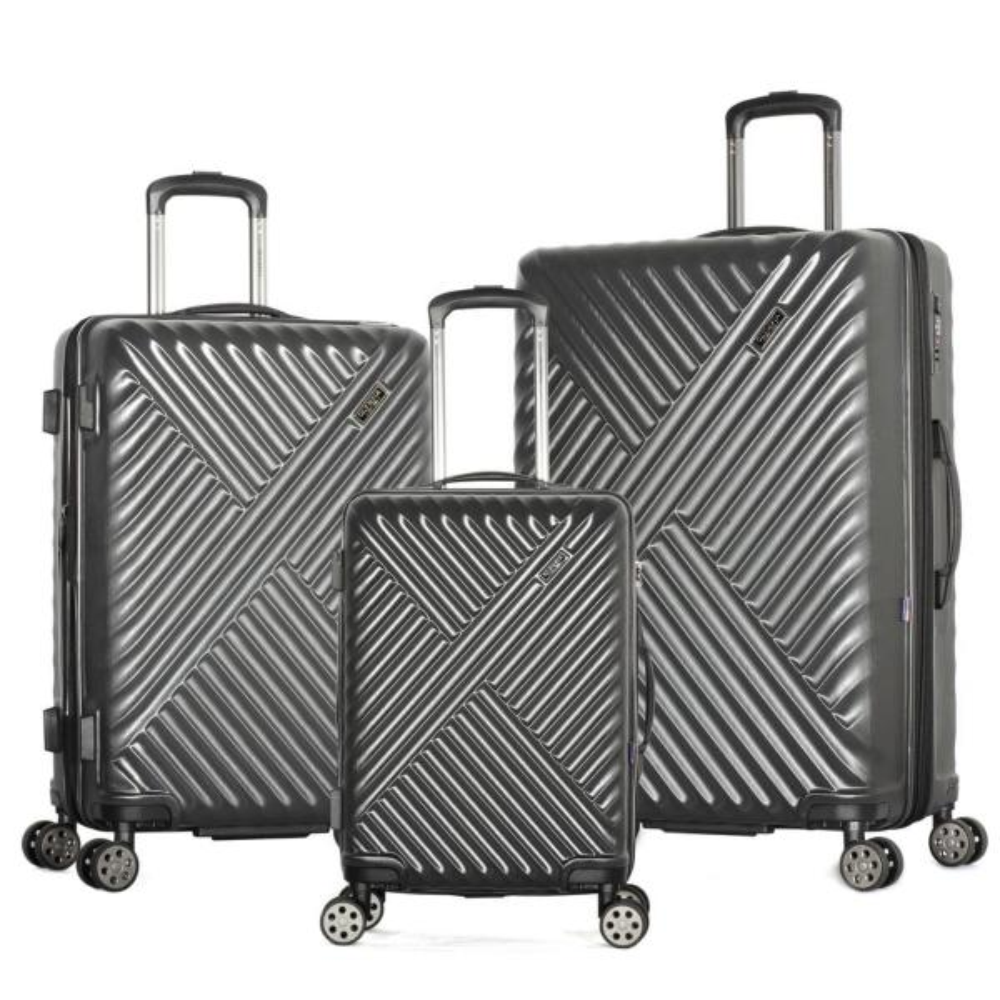 Matrix 3-Piece Expandable Gray Hardcase Spinner Set