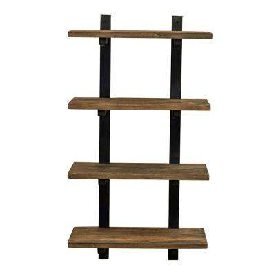 Pomona 20 in. W Wall Mounted 4-Tier Bath Shelf with Metal Frame and Solid Wood