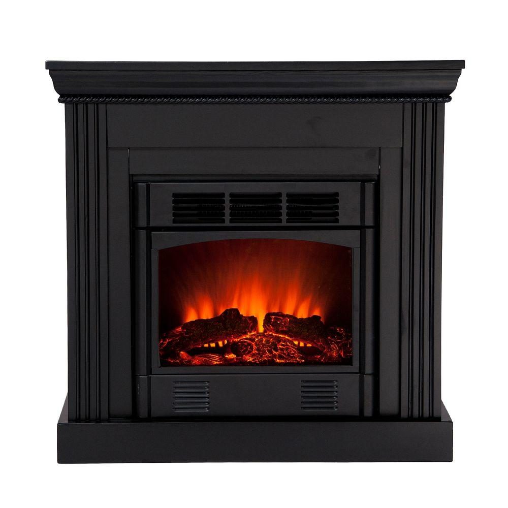Southern Enterprises Wexford Petite 30 in. Convertible Electric Fireplace in Black-DISCONTINUED