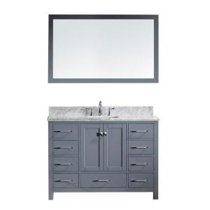 Virtu USA Caroline Avenue 48 inch W x 36 inch H Vanity with Marble Vanity Top in Carrara White with White Square Basin... by Virtu USA