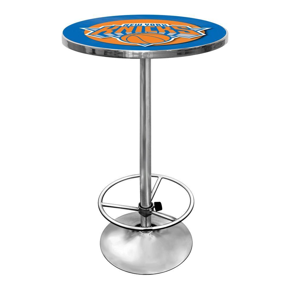 Trademark NBA New York Knicks Chrome Pub/Bar Table
