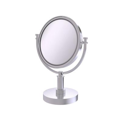 8 in. x 15 in. Vanity Top Makeup Mirror 4x Magnification in Satin Chrome