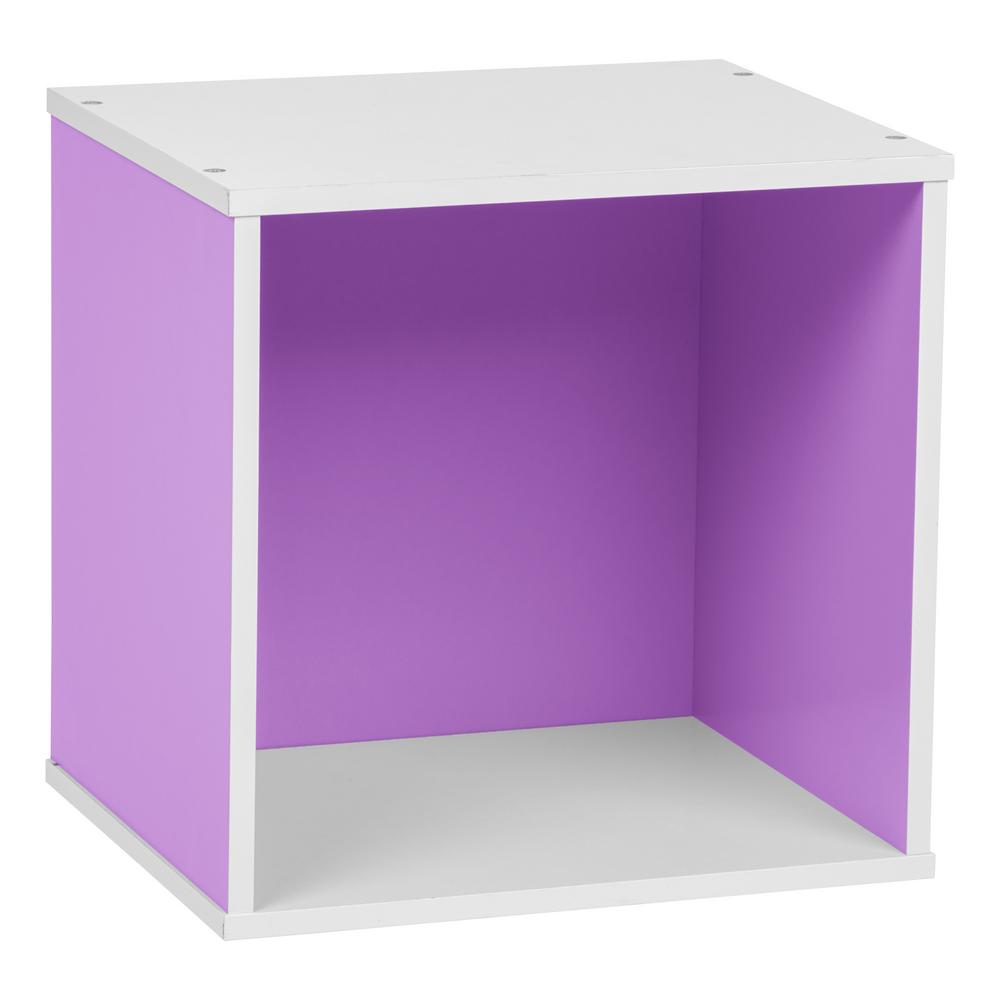 BAKU Purple Modular Wood Cube Box