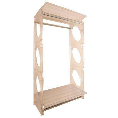 Urban Essential 48 in. H x 25.5 in. W x 14 in. D Closet Shelving Kit in Frost